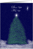Merry Christmas: Christmas Tree Silent Night card