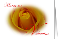 Marry me, Valentine: yellow rose card