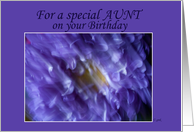 Happy Birthday Aunt: blurred mum card