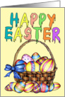 Basket of Eggs card