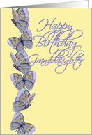 Butterfly Birthday-Granddaughter card
