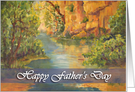 Happy Father's Day - 'Gorges du Loup' card