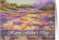 Happy Father's Day - 'Haut Alpes plain' card