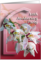 15th Anniversary Party card