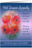 On Loss of your Grandfather Deepest Sympathy Card