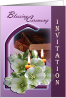 Blessing Ceremony Invitation card