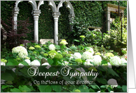 With Deepest Sympathy on loss of Brother - White hydrangeas card