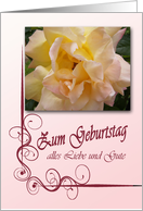 Zum Geburtstag - Happy Birthday in German, peach rose card
