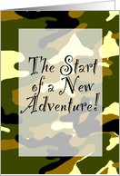 New Adventure - Camoflauge card