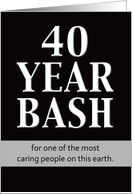 Birthday Invitation - 40 Year Bash card
