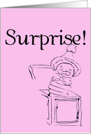Surprise - Pink/Girl card