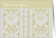 Thank You for Attending Wedding, Lace, cream ivory card