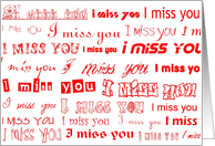 i miss you red on white card