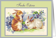 Frohe Ostern Vintage Bunnies card