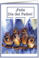 feliz dia del padre sparrows card