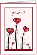 gracias little hearts and roses card
