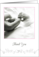 thank you and congratulations on the birth of our granddaughter card