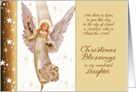 Daughter, Luke 2:11, Christmas Blessings, Angel card