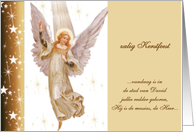 zalig kerstfeest dutch merry christmas + translation Luke 2:11 card