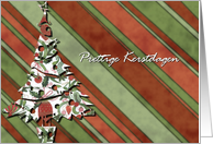 prettige kerstdagen dutch merry Christmas green card