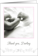 thank you darling husband for our baby girl, congratulations card