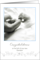 congratulations on the birth of your new Grandson card