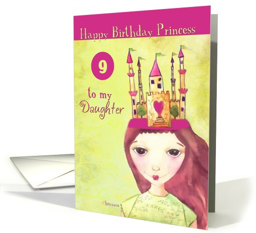 Daughter S 9th Birthday Quotes: To My Daughter Happy 9th Birthday Princess Card (612178