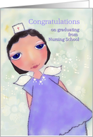 congratulations on graduating from nursing school, angel in scrubs card