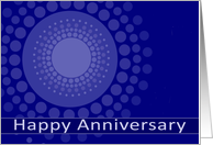 Happy Business Anniversary, Business Card, blue polka dots card