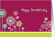 Happy Anniversary, Business anniversary card, floral card