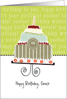 Happy birthday, Grace, customizable birthday card, cake, card