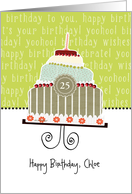 Happy birthday, Chloe, customizable birthday card (name & age) card
