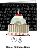 Happy birthday, Noah, customizable birthday card (name & age) card