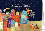 across the miles, Christmas card, three wise men, card