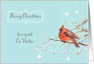 merry Christmas to my co-worker, business Christmas card, cardinal card