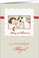 Merry first Christmas to my goddaughter, customizable card