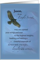 Customizable with Name, Eagle Scout Soar card