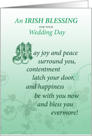 Irish Wedding Day Marriage Blessing Congratulations card