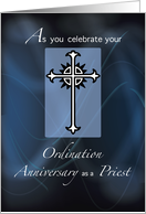 Ordination Anniversary of Priest card