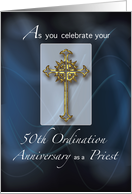50th Jubilee Ordination Anniversary of Priest card
