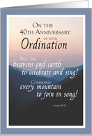 40th Anniversary of Ordination Congratulations with Mountains card