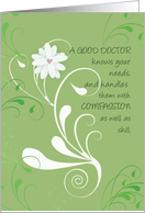 Doctors' Day Thank You from Group, All of Us, Green Swirls card