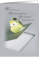 Angelversary Remembrance, Butterfly on Notebook card