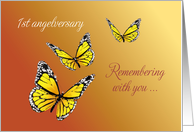 1st First, Baby's Angelversary, Anniversary of Death, Butterflies card