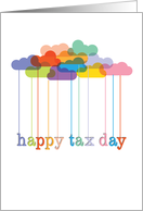 Happy Tax Day, Rainbow Clouds card