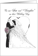 Son & Daughter-in-Law to Be on Wedding Day, Black, White, Bride, Groom card