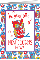 New Cousins Congratulations, Awesome Owl card