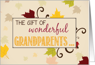 Title: Grandparents Day Gift with Leaves card