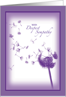 With Deepest Sympathy Dandelion Flower card