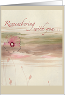 Remembering With You... card